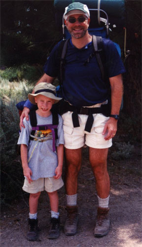 Nathan and Dad backpacking