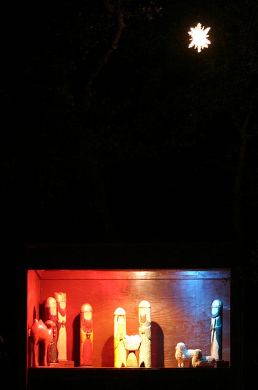 nativity scene large night