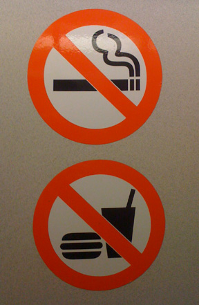 no eating subway