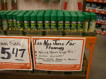 pruning seal home depot