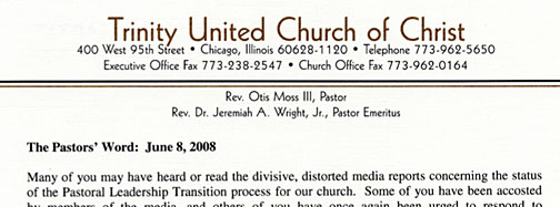 sample of church letterhead