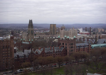 yale university aerial view